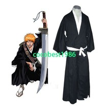 Bleach Ichigo Kurosaki / Kuchiki Rukia Soul Reaper Halloween Cosplay Cos... - $32.70