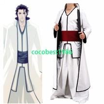 Bleach Aizen Sousuke Arrancar halloween Cosplay Costume Jacket shirt Trousers - $52.24