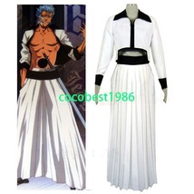 Bleach Grimmjow halloween Cosplay Costume Any size Jacket Trousers Belt - $49.57