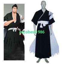Bleach Isshin Kurosaki Halloween Cosplay Costume Belt  Kimono Hakama cape - $52.24