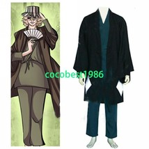 Bleach Urahara Kisuke Men's Halloween Cosplay Costume  Trousers Overcoat Top - $46.91