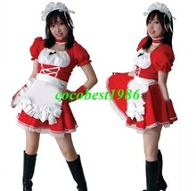 Asuka Cosplay (Maid) from Neon Genesis Evangelion dress apron head band - $59.52