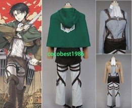 Attack on Titan Shingeki No Kyojin Scouting Legion Rivaille Cosplay Costume - $87.59