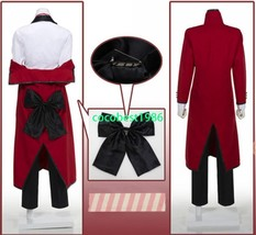 Black Butler Shinigami Grell Sutcliff Uniform Cosplay Costume Overcoat T... - $62.90