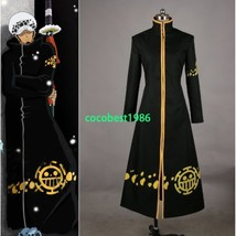 One Piece Trafalgar Law Coat Hat 2 years later Cosplay Costume with hat - $52.24
