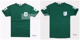 Animation Product Attack on Titan Mikasa Ackerman Green Short T-shirt Ha... - $11.27