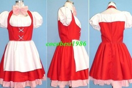 Chii Cosplay (Red White) from Chobits any size dress bow knot - $54.90