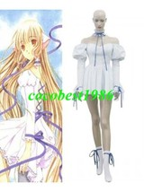 Chii White Pompon Dress Cosplay Costume from Chobits any size Dress Socks - $52.24