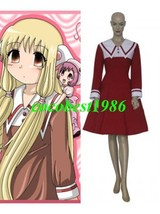 Red and White Chii Dress Cosplay Costume from Chobits any size - $54.85