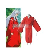 InuYasha Feudal Fairy Tale InuYasha Cosplay Costume Trousers Coat Sash H... - $26.26
