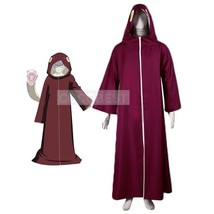 Naruto Hooded Cosplay Costume Kabuto cloak Japanese anime red long with hat - $30.86