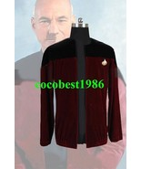 Star Trek Picard Black Red Velvet Jacket Costume all size coat - $59.52