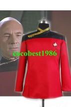Star Trek TNG Picard Dress Uniform Costume Red all size - $69.36