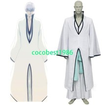 Bleach Ichimaru Gin Arrancar Halloween Cosplay Costume Sash Overcoat Und... - $53.92
