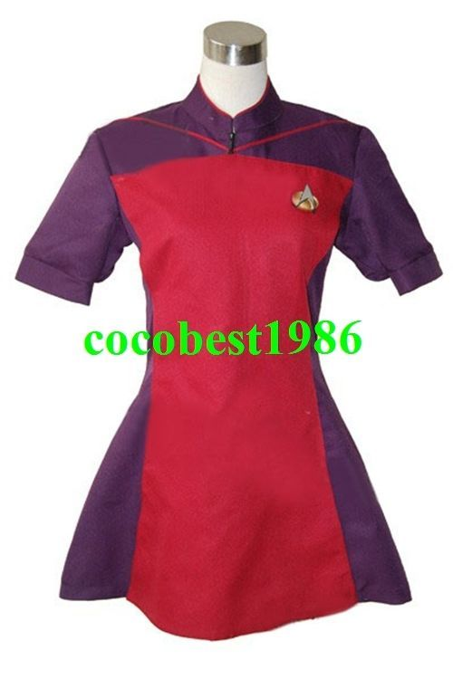 Star Trek TNG The Next Generation Red Skant Uniform Costume any size