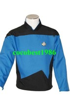 Star Trek TNG The Next Generation Teal Shirt Uniform Costume any size - $44.87