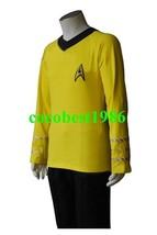 Star Trek TOS The Original Series Kirk Yellow Shirt Uniform Costume  any size - $61.39