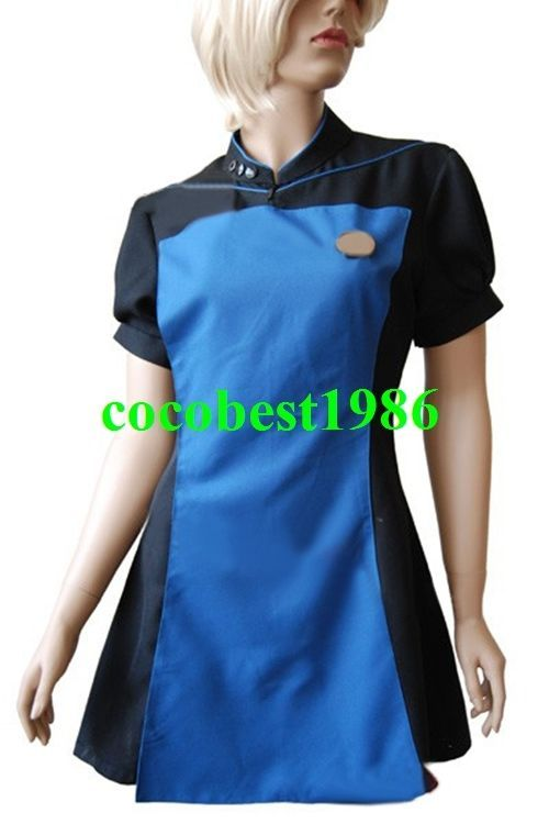 Star Trek TNG The Next Generation Teal Skant Uniform Costume  any size