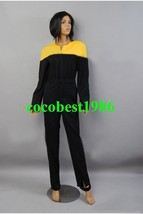 Star Trek Voyager Jumpsuit Yellow Gold Uniform Costume any size Top pants - $65.44