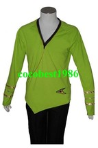 Star Trek TOS Green Wrap Command Costume Uniform any size - $62.31