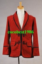 Who is Doctor 3 Rd Doctor Red Corduroy Jacket Coat Costume any size - $65.11