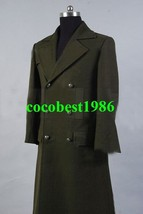 Who is Doctor Dr. Dark Green Long Wool Trench Coat Costume any size - $77.23