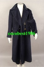 Who is Doctor Dr. Dark Blue or Black Wool Trench Coat Costume Ver2 any size - $80.96