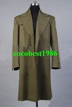 Who is Doctor Dr. Dark Ecru Brown Long Trench Coat Costume any size - $77.23