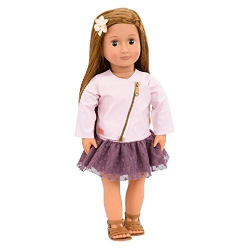 Our Generation 18 Inch Regular Doll VIENNA with Long Brown Hair, Brown Eyes, ...