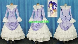 Victorica Cosplay (Purple) from GOSICK any size dress bow knot head wear - $90.89