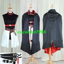 Testarossa Cosplay from Magical Girl Lyrical Nanoha top belts cloak skirt - $85.02