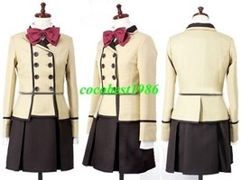 Kanako Cosplay from Maria Holic any size shirt skirt coat bow knot - $63.48