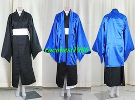 Nura Rikuo Cosplay (Dark Blue) from Nurarihyon no Mago kimono cloak waistband - $65.44