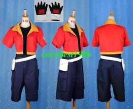 Jacky Cosplay from Pokemon any size top pants jacket belt gloves - $59.56
