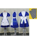 Alice Costume from Alice Madness Returns cosplay costume dress stockings - $54.85