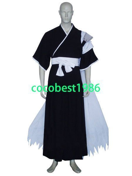 Bleach Isshin Kurosaki Halloween Cosplay Costume Belt  Kimono Hakama cape