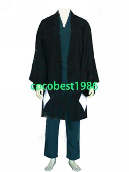 Bleach Urahara Kisuke Men's Halloween Cosplay Costume  Trousers Overcoat Top