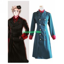 Hetalia Axis Powers Denmark Cosplay Costume any size Overcoat Trousers Tie Shirt - $60.78