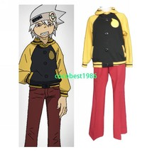 Halloween costume Soul Eater Evans Cosplay Costume Jacket Trousers Leg Cap - $59.34