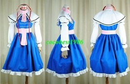 Alice Costume from Touhou Project any size dress cloak sleeves head wear - $60.55