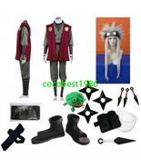Halloween costume Jiraiya cosplay costume wig set - $100.91