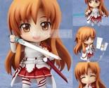 Sword Art Online PVC Action Figure Toys Cute SAO Asuna Q Version Figures