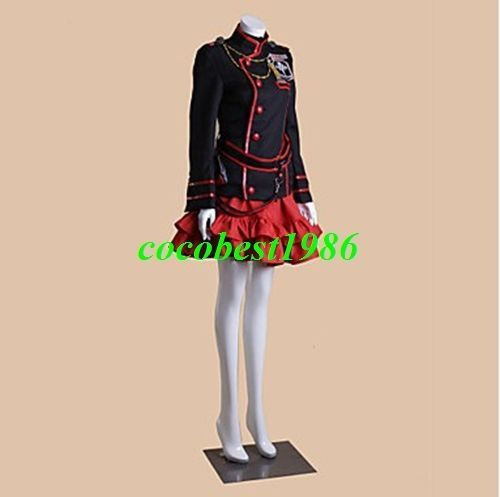 2 D.Gray-man Lenalee Lee Cosplay Costume (3rd Version) Coat Top Skirt Short