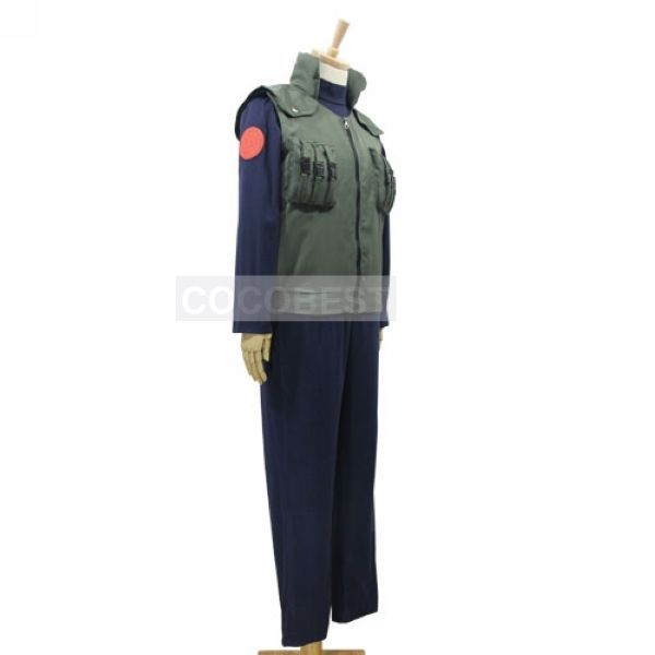 Naruto Hatake Kakashi Cosplay costume vest shirt trousers Halloween japanese set