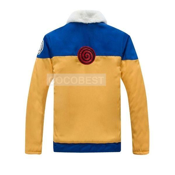 Naruto Uzumaki Hokage thick coat Halloween cosplay costume japanese anime top