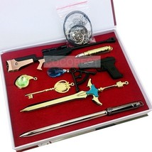 Sword Art Online 2 Swords Weapons High Quality Metal Keychain Pendants - $17.54