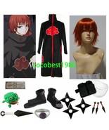 Halloween akatsuki sasori cosplay costume sasori cosplay cloak wig set - $65.38