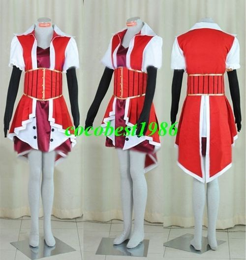 Akiza Cosplay from Yu Gi Oh any size top outfit gloves waistband accessorie