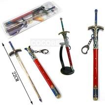 Sword Art Online FATE saber wood Sword Key Chain Cosplay Accessories - $13.71