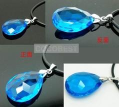 Sword Art Online Necklace Dark Blue Crystal Pendant Cosplay Accessories - $7.01